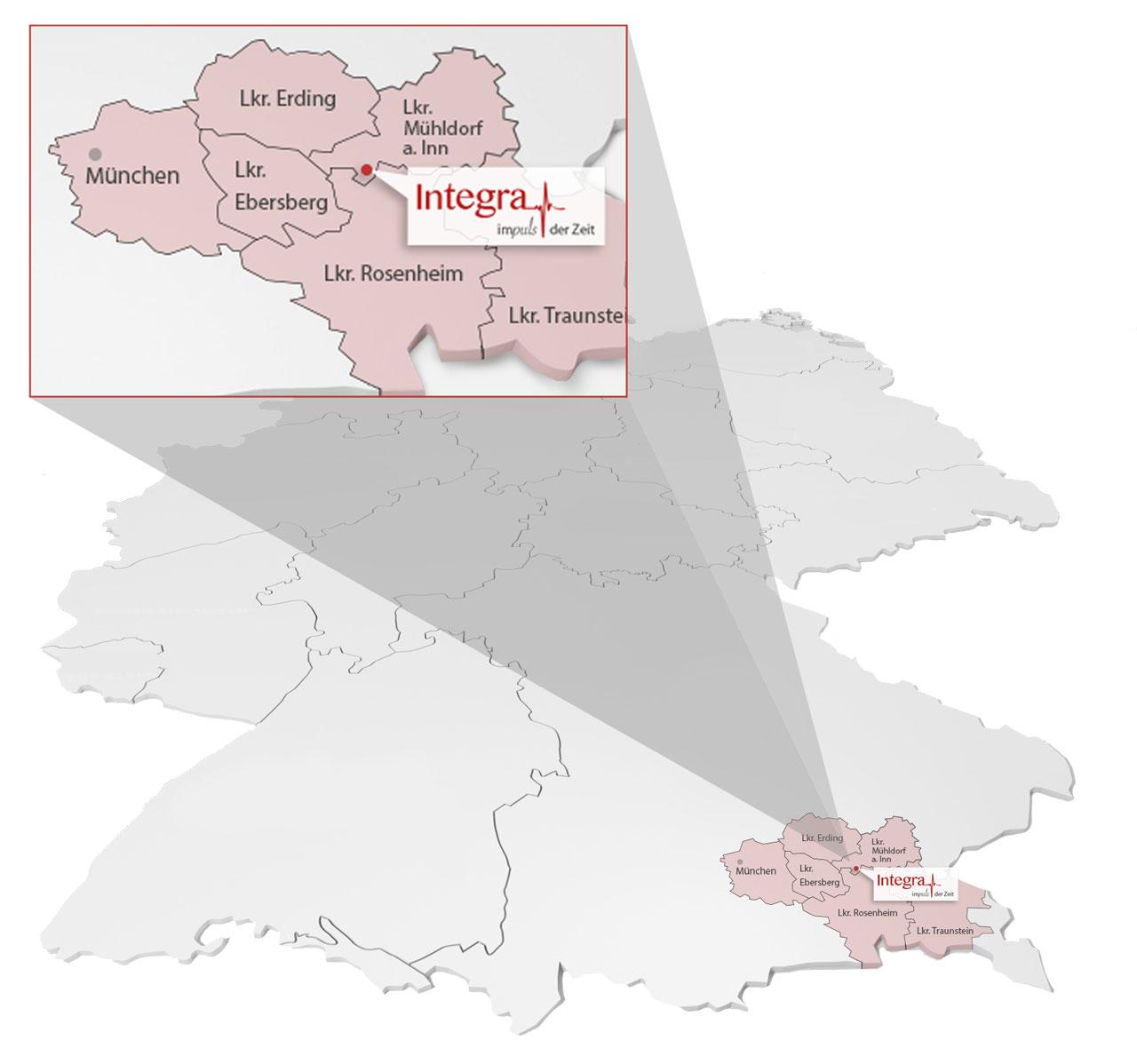 Deutschlandkarte der Einsatzgebiete
